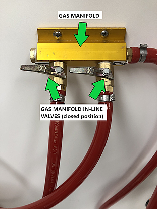 manifold closed valves
