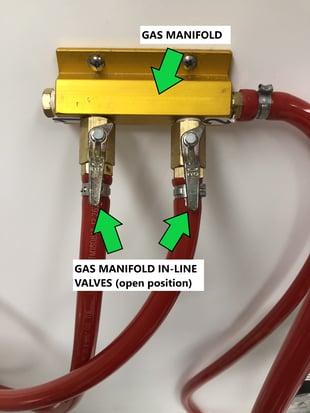 manifold open valves